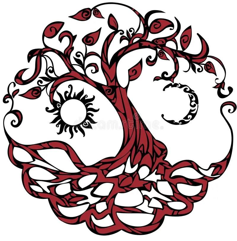 Baum des Lebens vektor abbildung Illustration von formung