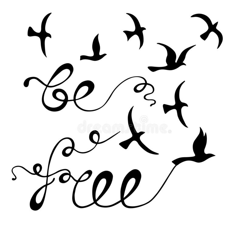 Free my gypsy soul. stock illustration. Illustration of
