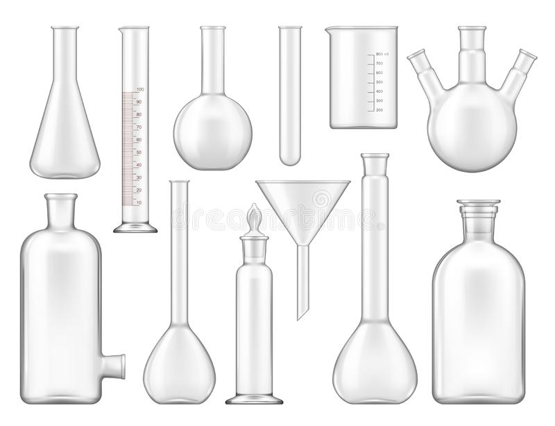 Science Chemical Flasks And Beakers Stock Image