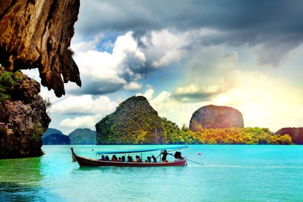 beautiful beach landscape in thailand