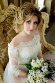 beautiful blonde bride portrait