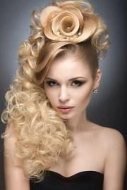 beautiful blonde girl in evening