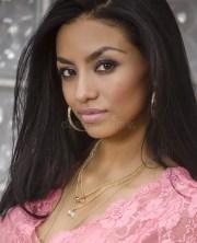beautiful exotic young woman stock