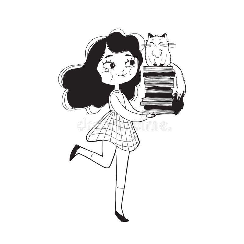 Realistic School Girl Child Cartoon Education Character