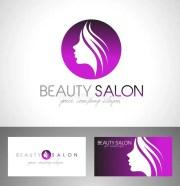 beauty salon logo stock vector