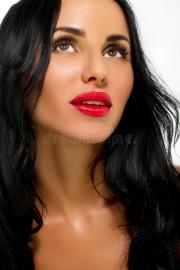 beauty woman with long black hair