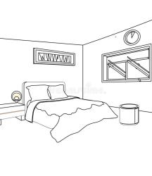 Bedroom Room Coloring Pages