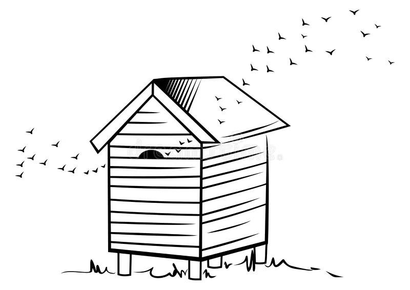 Bee hive stock vector. Illustration of illustration