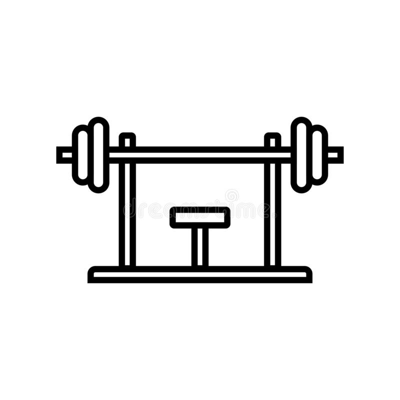 Bench press workout stock illustration. Illustration of