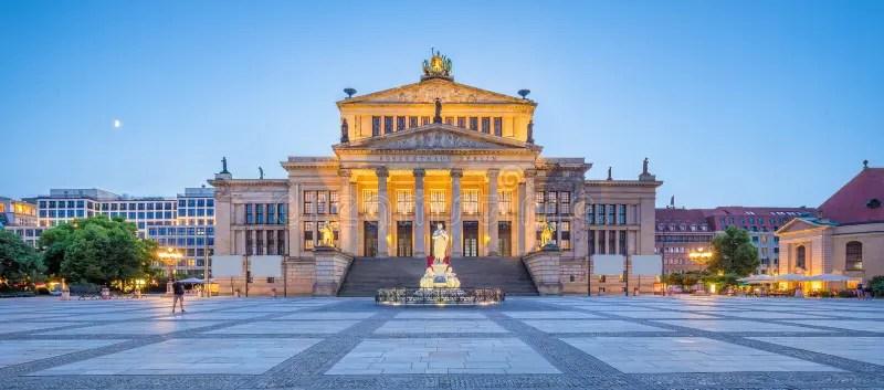 Gendarmenmarkt Square Panorama At Dusk. Berlin. Germany Stock Photo - Image of capital. berliner: 188881702