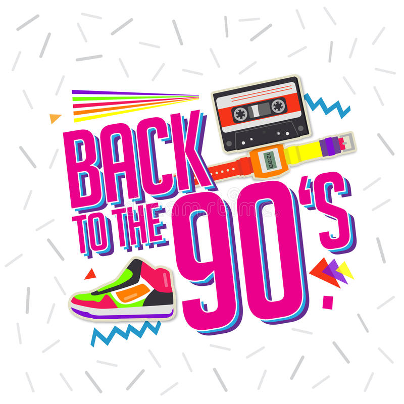 Download Best Of 90s Illistration With Cassette And Shoes ...