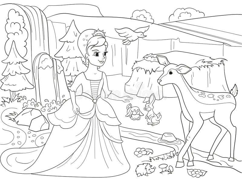Disegni Da Colorare Principessa Biancaneve Timazighin Con Auto