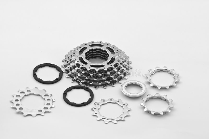 Bicycle gear parts stock photo. Image of race, technology
