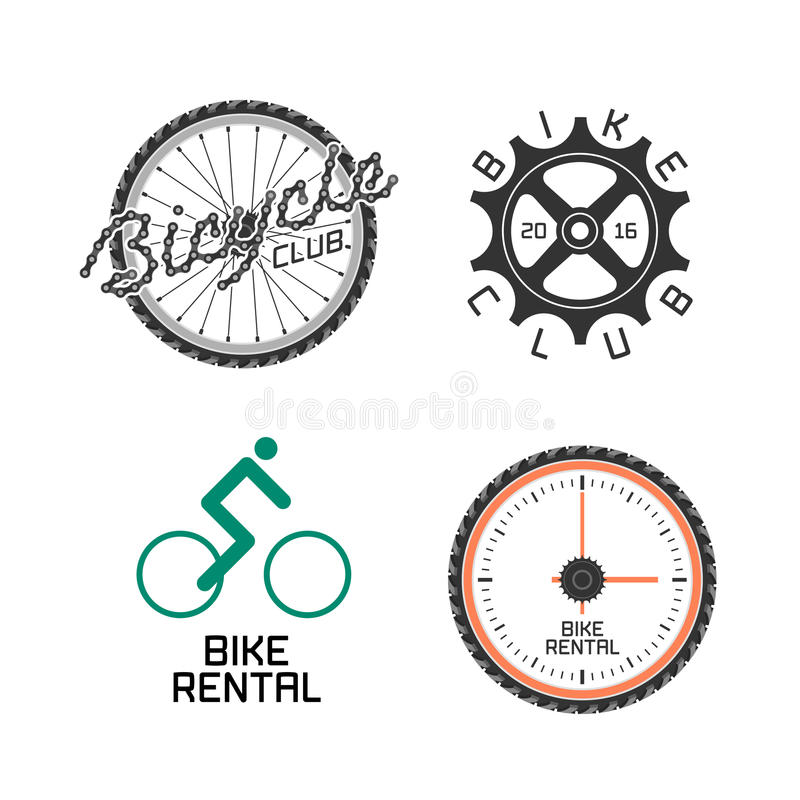 Bicycle Shop, Rent A Bike, Bicycle Repair Set Of Vector