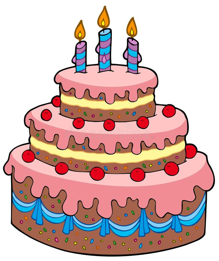 Big Cartoon Birthday Cake Stock Vector Illustration Of