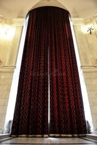 Big window curtains stock photo. Image of transparent ...