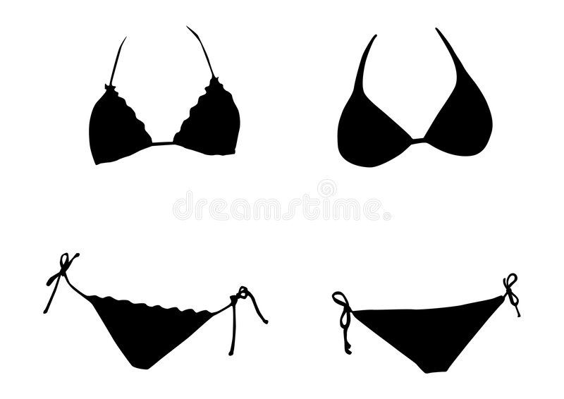Bikini silhouette stock vector. Illustration of element