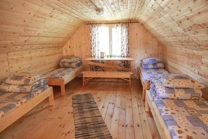 Landelijke Slaapkamer stock foto Afbeelding bestaande uit