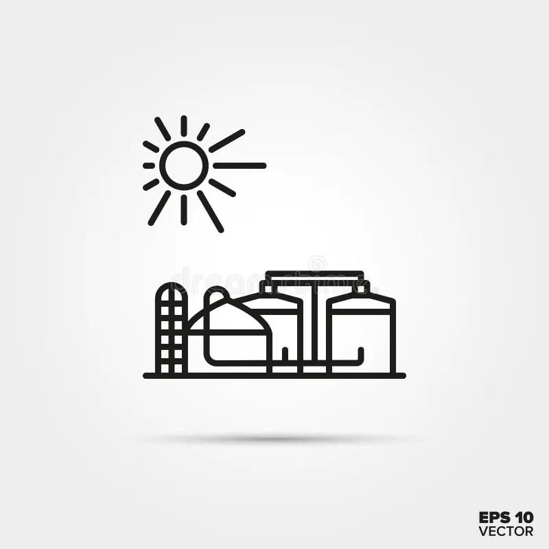 Biogas plant stock illustration. Illustration of fruit