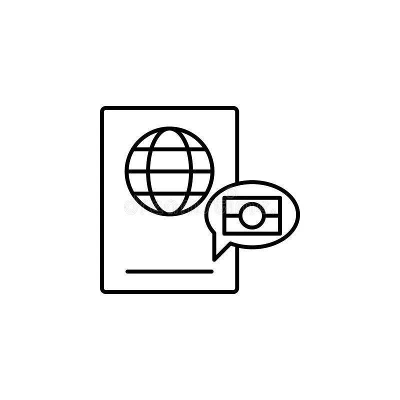 Biometric Passport, Digital Passport Icon. Element Of