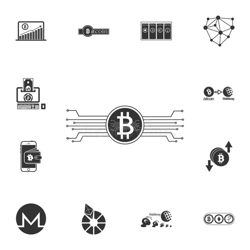 Cryptocurrency Icon Technology World Background Collection