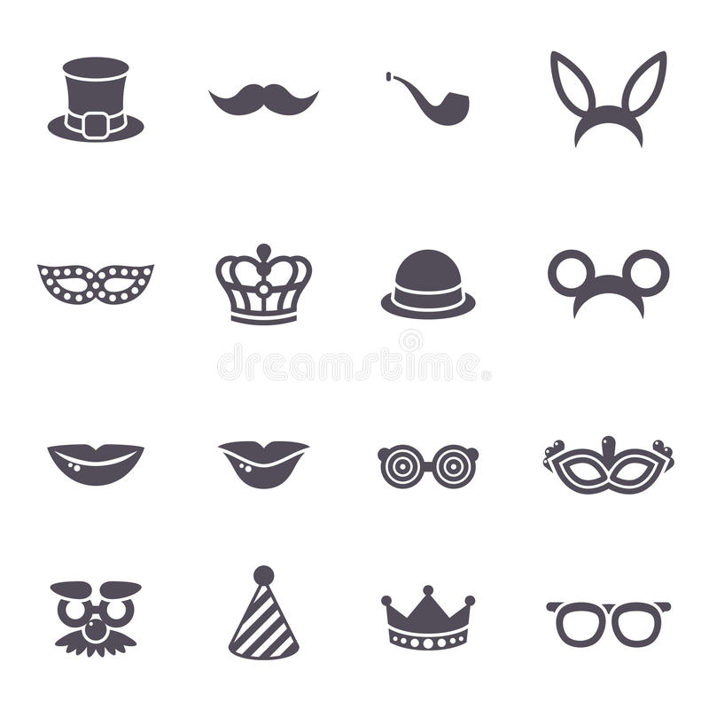 Theater Symbol Face With Mustache And Hat Stock Vector