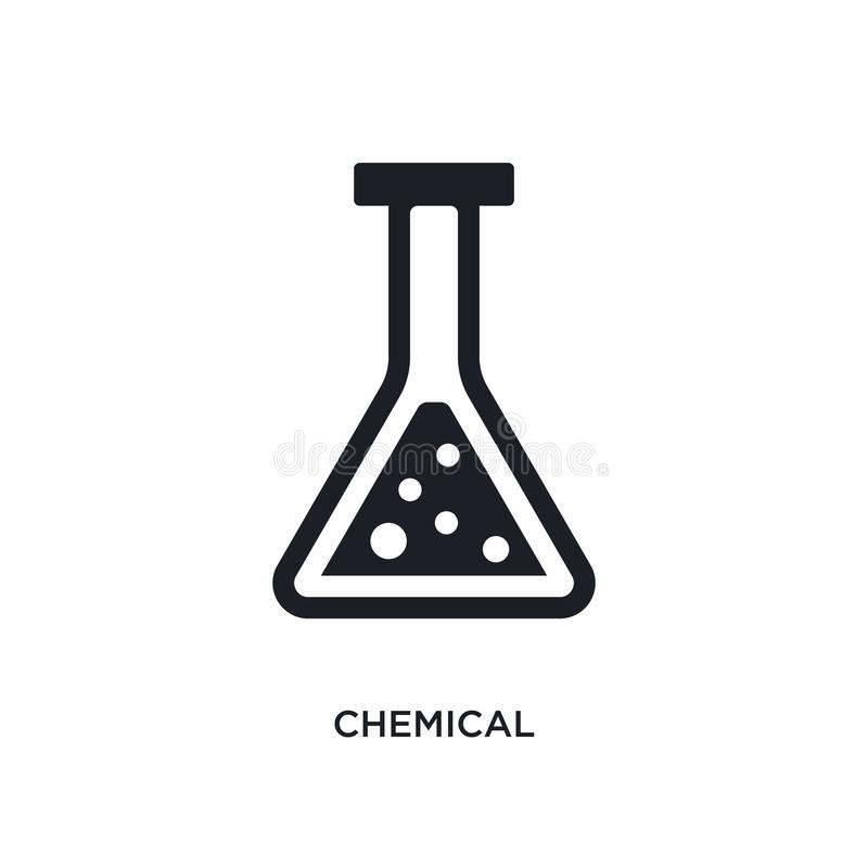 Chemistry industry icons stock vector. Illustration of