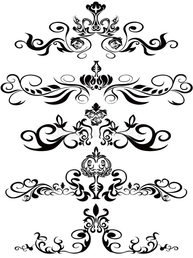 Abstract Damask Ornaments