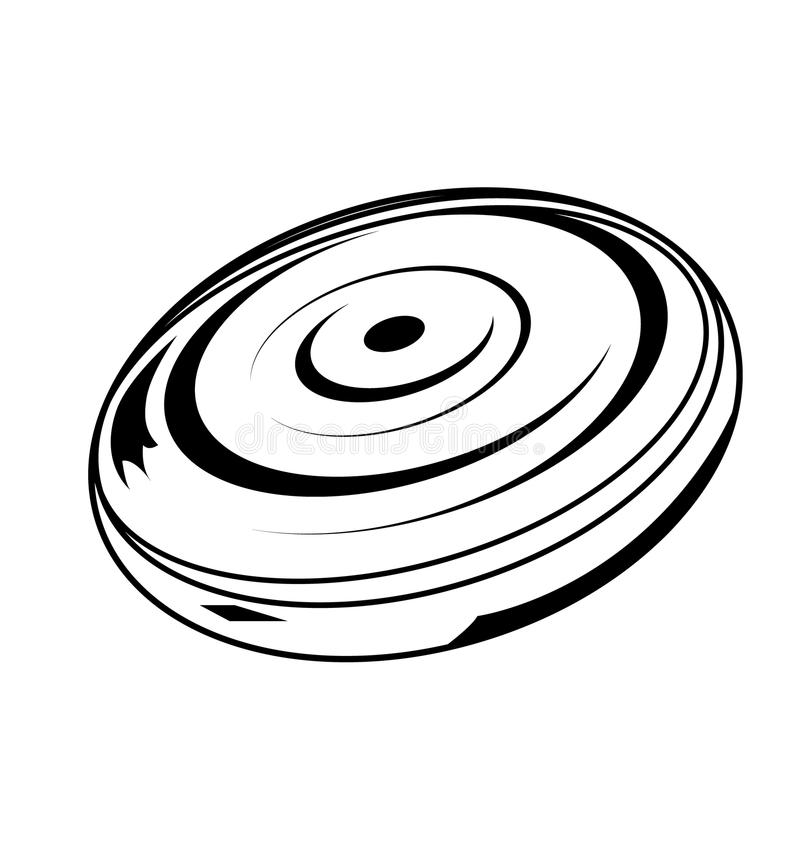 Black Frisbee Stock Illustrations