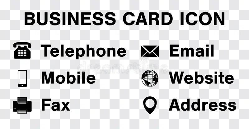 Black Icon Vector Set For Business Namecard Stock Vector