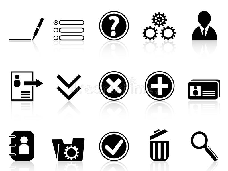 Black Internet Account Settings Icon Stock Vector