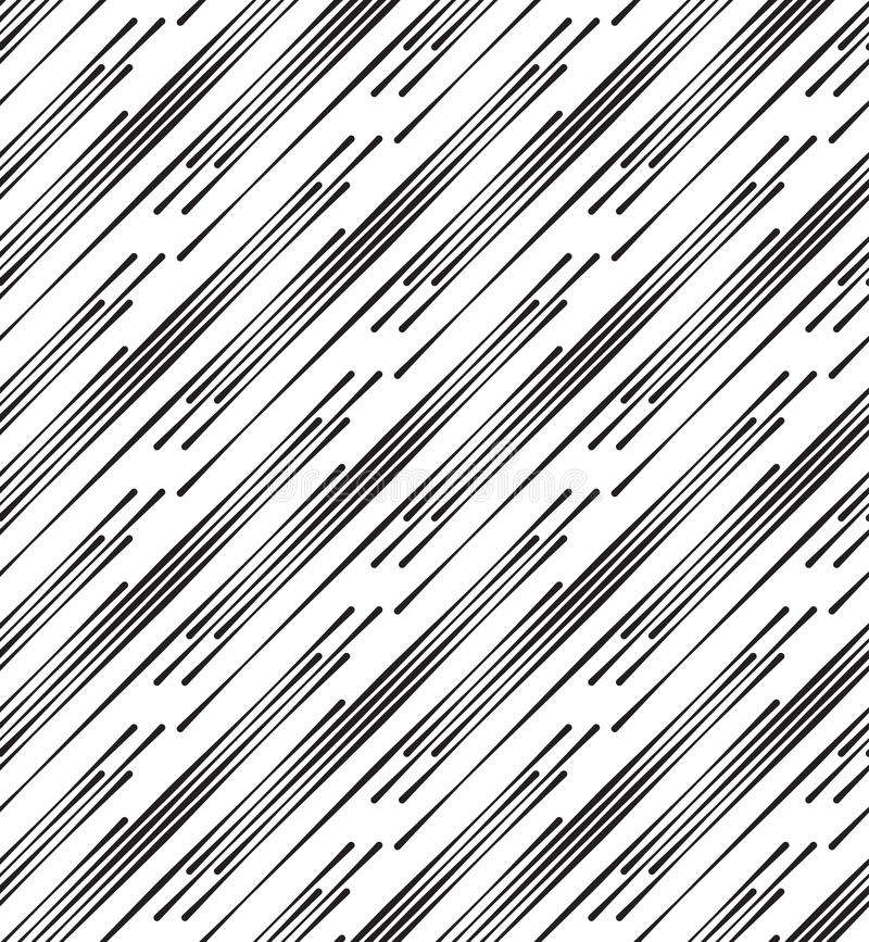 Black And White Abstract Geometric Vector Seamless Pattern