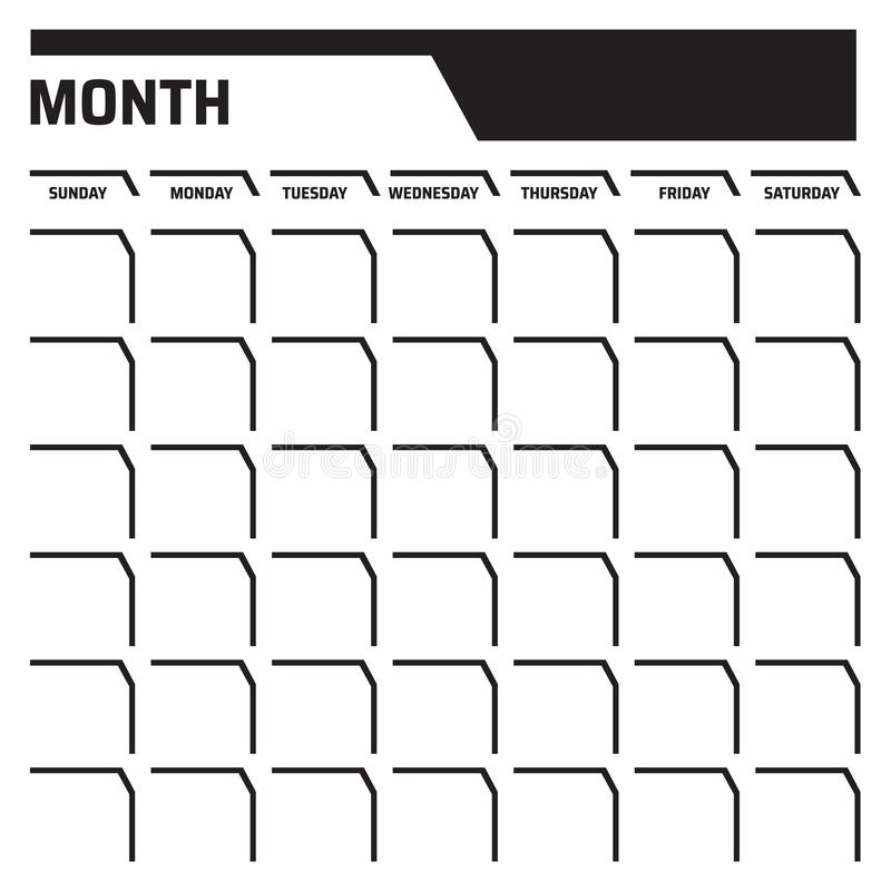 Blank Calendar Date Stock Illustrations