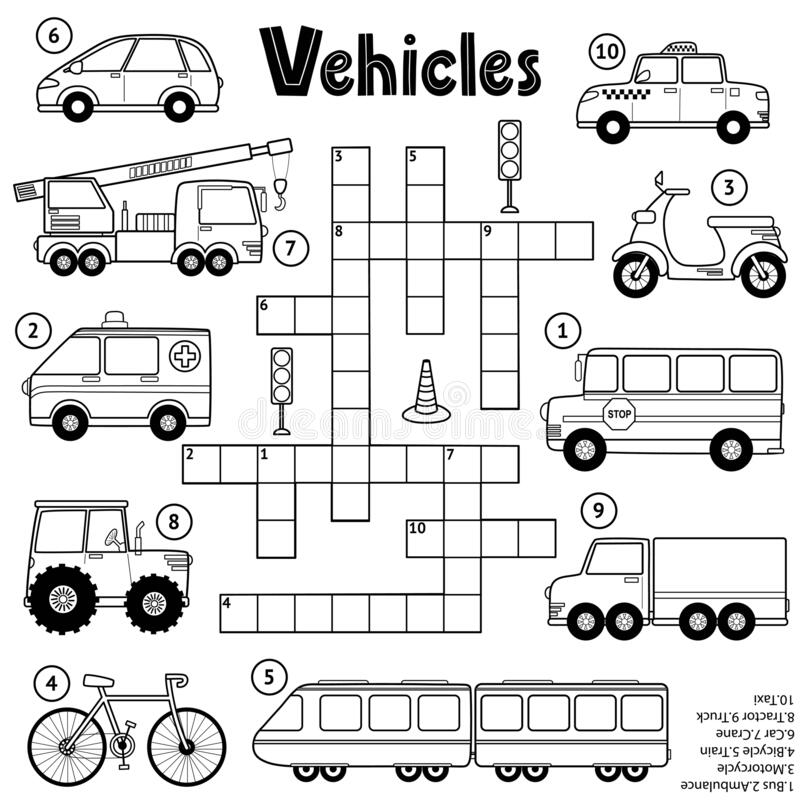 Cartoon Truck Black White Stock Illustrations