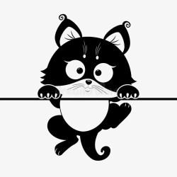 cat silhouette chat stickers kitten vector gato chaton vinilo sticker drawing gatto wandtattoo katze decorativo pisica adesivo murale cats panda