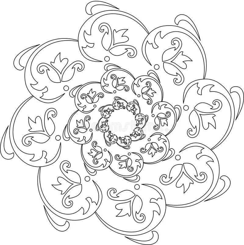 Black and white mandala stock vector. Illustration of