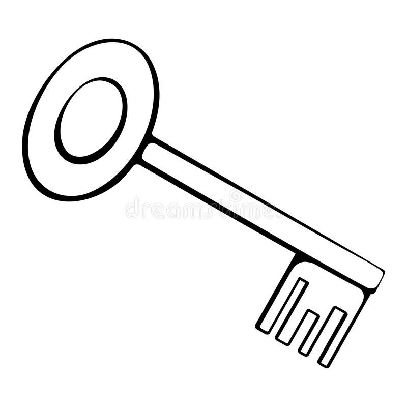 Door Key Page Coloring Pages
