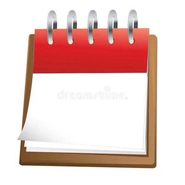 blank calendar clip art stock vector