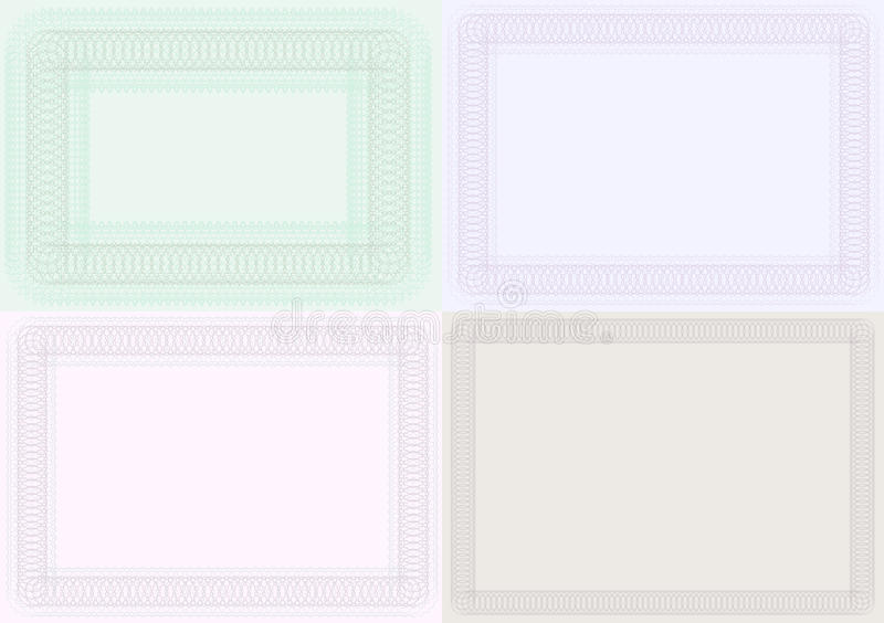 Blank Certificate Backgrounds Stock Vector - Illustration of medal ...