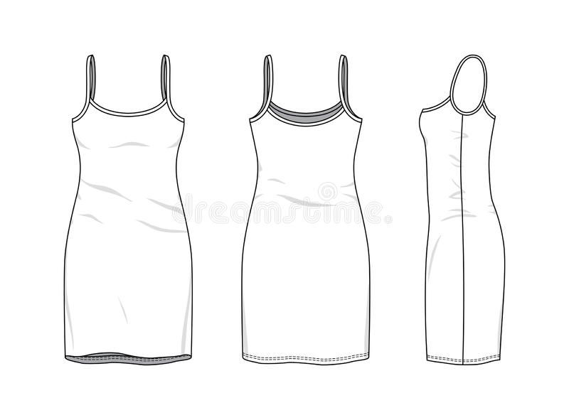 Clothing templates set. stock vector. Illustration of