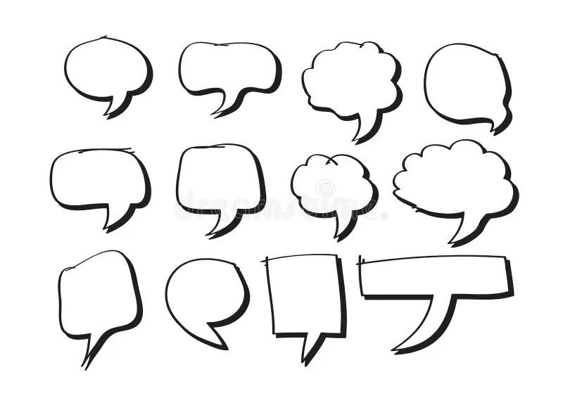 Blank empty speech bubbles stock illustration