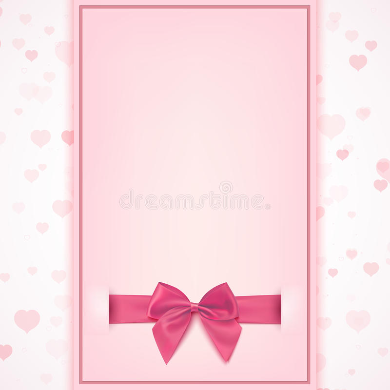 Blank Greeting Card Template Stock Vector Illustration