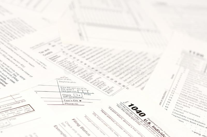 Blank Income Tax Forms. American 1040 Individual Income