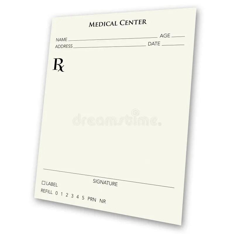Blank prescription pad stock illustration. Illustration of