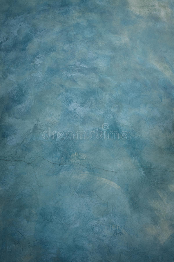 Blue Cement Wall Painting By Brush Texture Technical Use