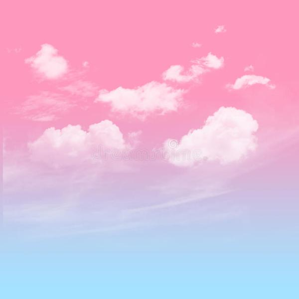 Blue And Pink Sky With Cloudy Stock Photo Image of