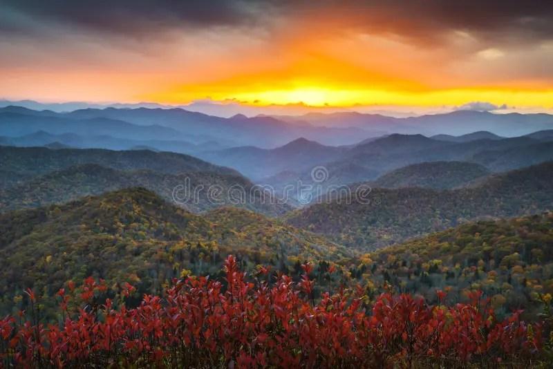 Fall In The Smokies Wallpaper Blue Ridge Parkway Autumn Appalachian Mountains Sunset