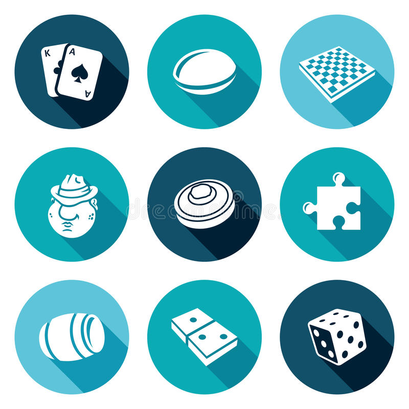 Board Games Icons Set Vector Illustration Stock Vector