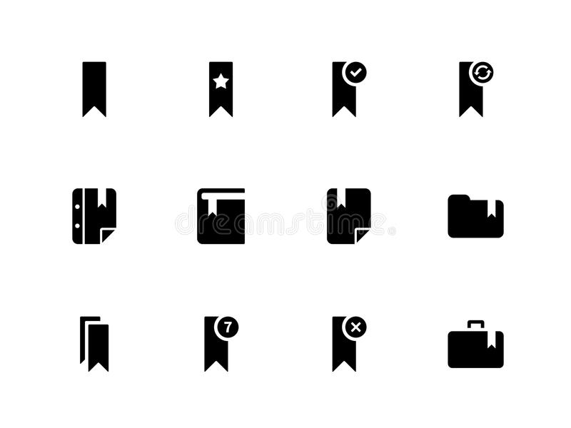 Bookmark, Tag, Favorite Icons On White Background. Stock