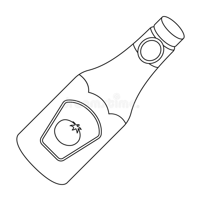 Ketchup Bottle Free Coloring Pages Sketch Coloring Page
